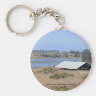 Elkhorn Slough Natural Reserve Panoramic Key Chain