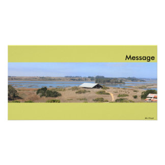 Elkhorn Slough Natural Reserve Panoramic Personalized Photo Card