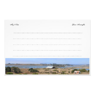 Elkhorn Slough Natural Reserve Panoramic Customized Stationery