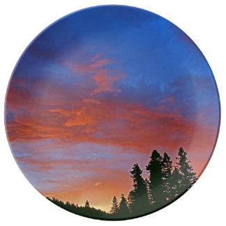 Elkhorn Sunset Porcelain Plate