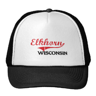 Elkhorn Wisconsin City Classic Trucker Hats