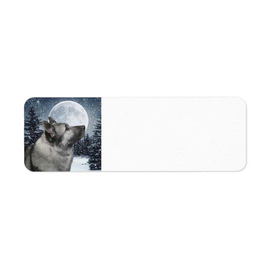 Elkhound Return Address Lable