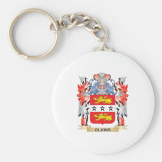 Elkins Coat of Arms - Family Crest Basic Round Button Key Ring