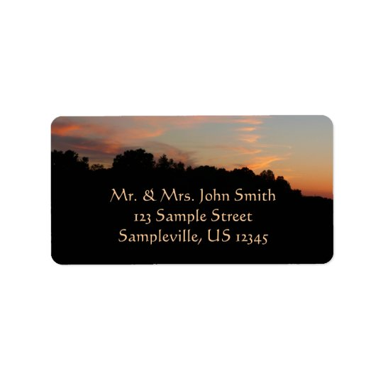 Elkridge Sunset Maryland Landscape Label