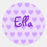 Ella in Purple Round Stickers