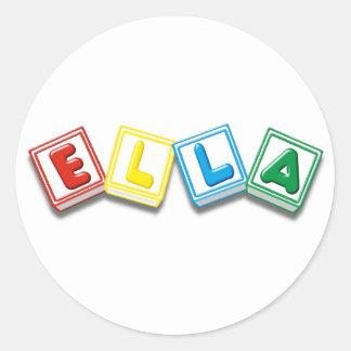 Ella Round Sticker