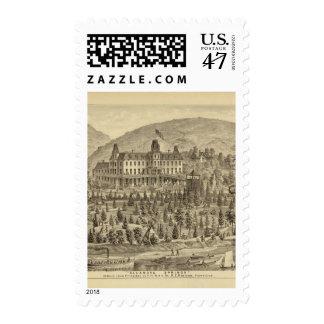 Ellanova Springs 10 miles from Pittsburgh Stamp