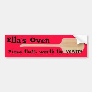 Ella's Oven Pizza Car Bumper Sticker
