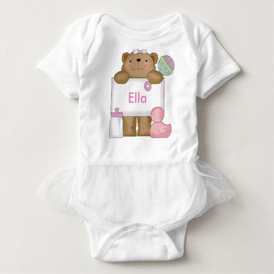 Ella's Personalised Bear Baby Bodysuit