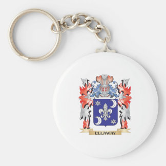 Ellaway Coat of Arms - Family Crest Basic Round Button Key Ring