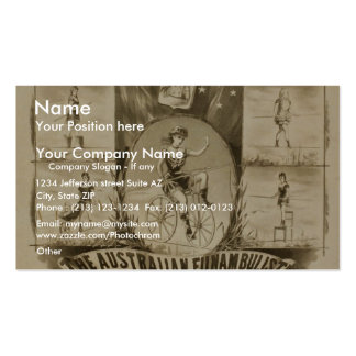 Ellazuila, 'Heroine of the High Wire' Retro Theate Pack Of Standard Business Cards