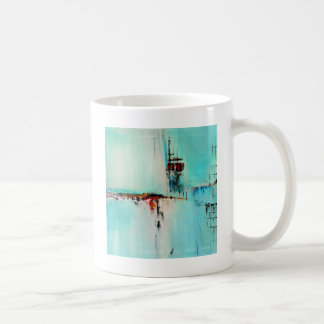 Elle-abstract-026-2424-Original-Abstract-Art-Off-S Basic White Mug