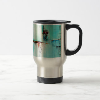 Elle-abstract-026-2424-Original-Abstract-Art-Off-S Stainless Steel Travel Mug