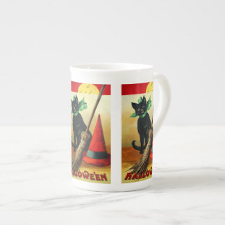 Ellen H. Clapsaddle: Black Cat, Broom and Hat Tea Cup