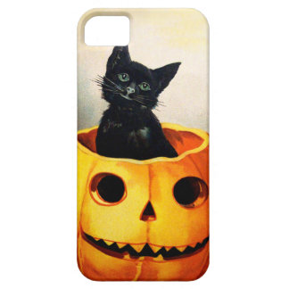 Ellen H. Clapsaddle: Black Cat in Jack O'Lantern Barely There iPhone 5 Case