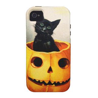Ellen H. Clapsaddle: Black Cat in Jack O'Lantern Vibe iPhone 4 Case