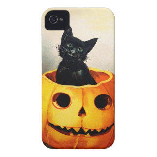 Ellen H. Clapsaddle: Black Cat in Jack O'Lantern Case-Mate iPhone 4 Case