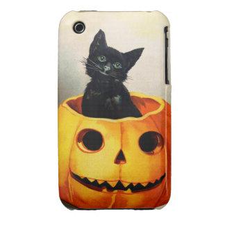 Ellen H. Clapsaddle: Black Cat in Jack O'Lantern iPhone 3 Case-Mate Case