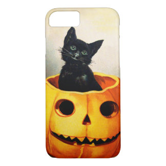 Ellen H. Clapsaddle: Black Cat in Jack O'Lantern iPhone 8/7 Case