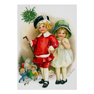 Ellen H. Clapsaddle: Boy and Girl with Toys Print