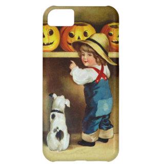 Ellen H. Clapsaddle: Boy, Dog and Jack O'Lanterns Case For iPhone 5C