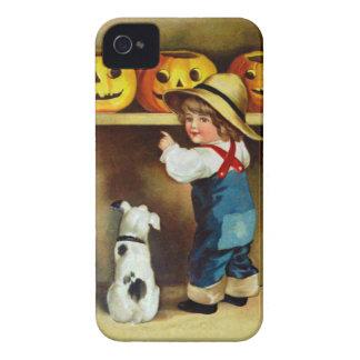 Ellen H. Clapsaddle: Boy, Dog and Jack O'Lanterns Case-Mate iPhone 4 Case