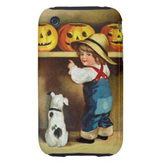 Ellen H. Clapsaddle: Boy, Dog and Jack O'Lanterns iPhone 3 Tough Case