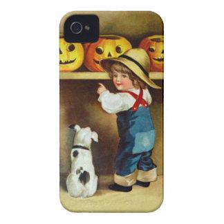 Ellen H. Clapsaddle: Boy, Dog and Jack O'Lanterns iPhone 4 Covers