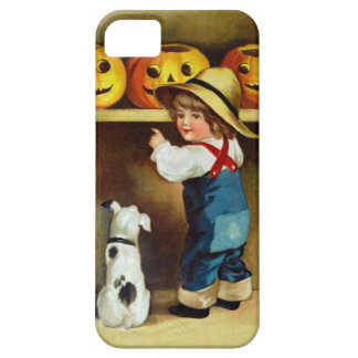 Ellen H. Clapsaddle: Boy, Dog and Jack O'Lanterns iPhone 5 Cases