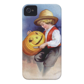 Ellen H. Clapsaddle: Boy with Jack O'Lantern 2 iPhone 4 Case-Mate Cases