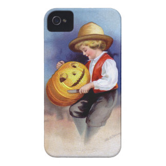 Ellen H. Clapsaddle: Boy with Jack O'Lantern 2 Case-Mate iPhone 4 Case