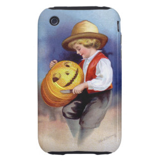 Ellen H. Clapsaddle: Boy with Jack O'Lantern 2 Tough iPhone 3 Cases