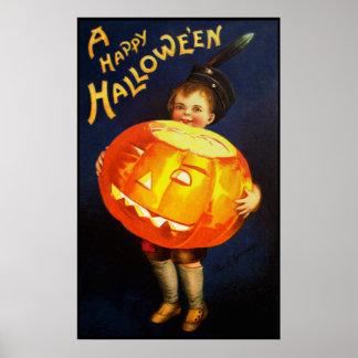 Ellen H. Clapsaddle: Boy with Pumpkin Poster