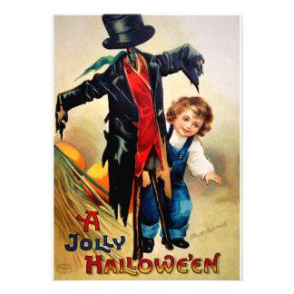 Ellen H Clapsaddle Boy with Scarecrow Invites