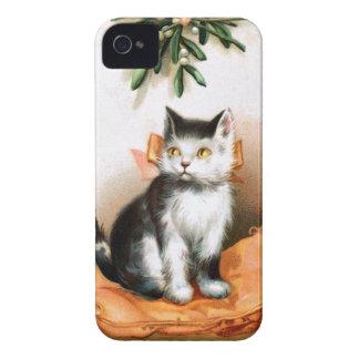 Ellen H. Clapsaddle: Cat under Mistletoe Case-Mate iPhone 4 Cases