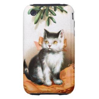 Ellen H. Clapsaddle: Cat under Mistletoe iPhone 3 Tough Covers