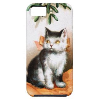 Ellen H. Clapsaddle: Cat under Mistletoe iPhone 5 Covers