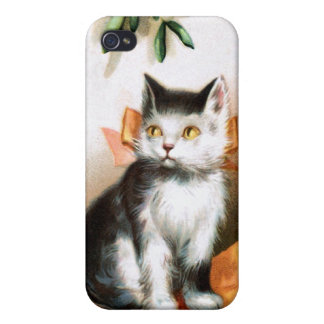 Ellen H. Clapsaddle: Cat under Mistletoe Cover For iPhone 4