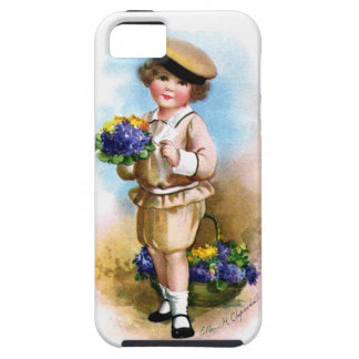 Ellen H. Clapsaddle: Child with Forget-me-not iPhone 5 Cases