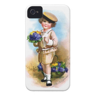 Ellen H. Clapsaddle: Child with Forget-me-not iPhone 4 Case