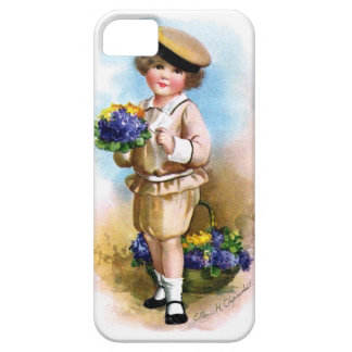 Ellen H. Clapsaddle: Child with Forget-me-not iPhone 5 Covers