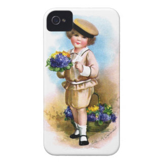 Ellen H. Clapsaddle: Child with Forget-me-not Case-Mate iPhone 4 Case