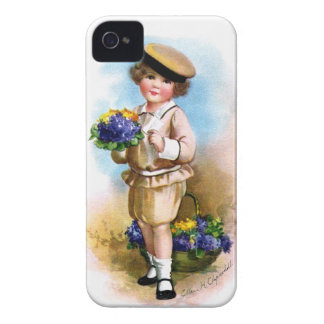 Ellen H. Clapsaddle: Child with Forget-me-not iPhone 4 Cases