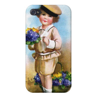 Ellen H. Clapsaddle: Child with Forget-me-not Covers For iPhone 4