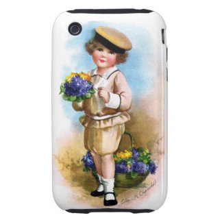 Ellen H. Clapsaddle: Child with Forget-me-not Tough iPhone 3 Covers