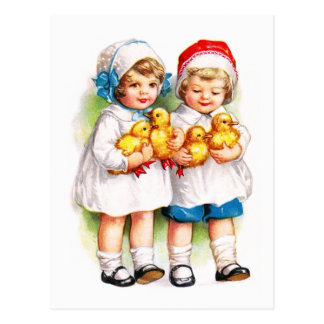 Ellen H. Clapsaddle: Children with Ducklings Postcard