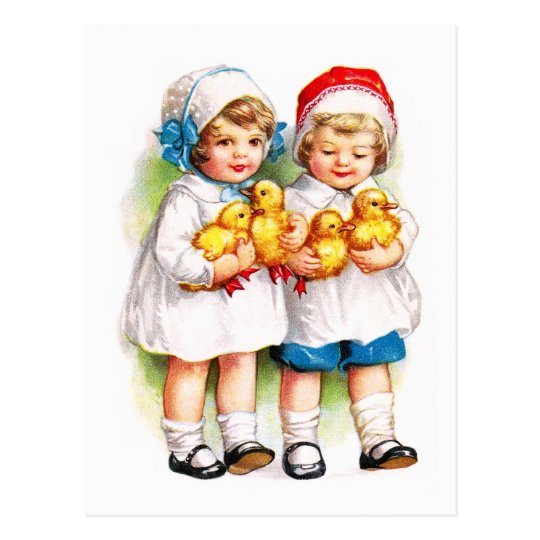 Ellen H. Clapsaddle: Children with Ducklings Postcard