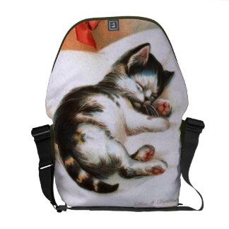 Ellen H. Clapsaddle: Christmas Kitten Courier Bag