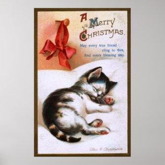 Ellen H. Clapsaddle: Christmas Kitten Poster