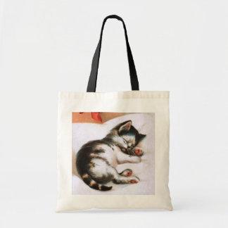 Ellen H. Clapsaddle: Christmas Kitten Budget Tote Bag